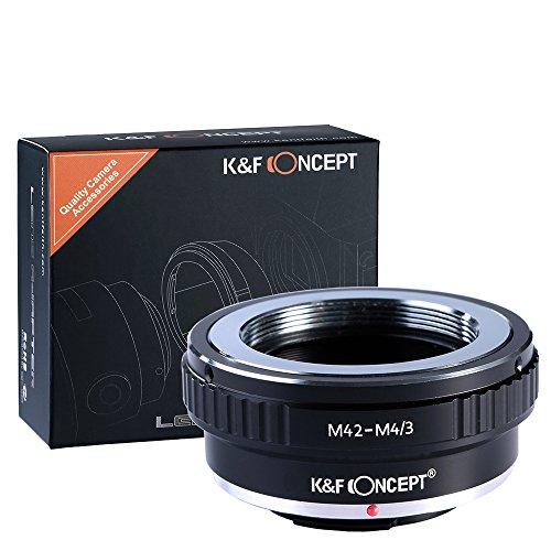 K&F Concept M42 Screw Mount Lens to Micro 4/3 Four Thirds System Camera Mount Adapter, fits Olympus PEN E-P1 P2 P3 P5 E-PL1 PL1s PL2 PL3 PL5 PL6 E-PM1 PM2 OM-D E-M5 E-M1 Panasonic Lumix DMC-GH1 GH2 GH3 GX7 G1 G2 G10 G3 G5 G6 GF1 GF2 GF3 GF5 GF6 GX1 GM