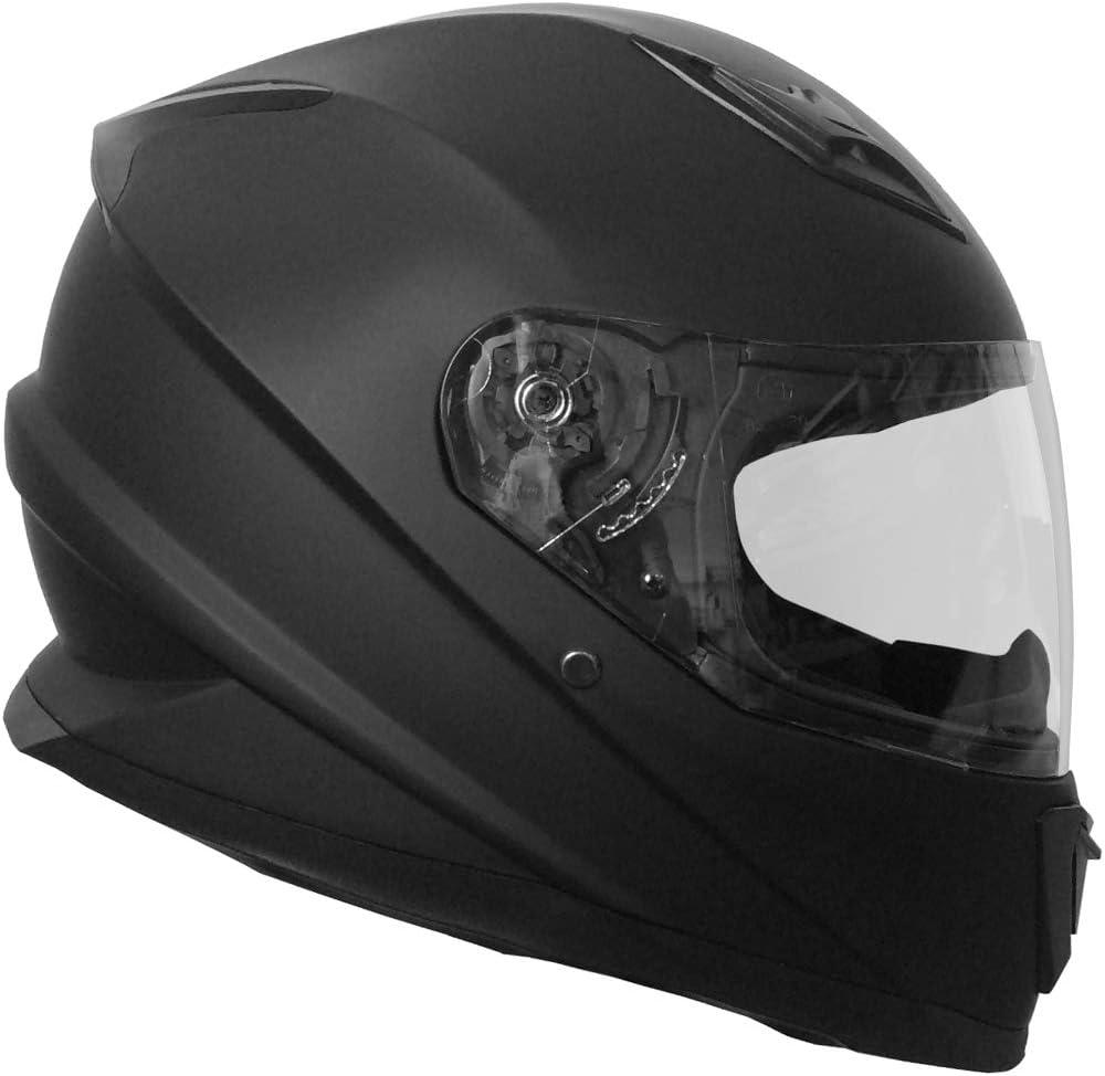 Integralhelm Helm Motorradhelm Rallox 62 Schwarz Matt Größe L Sturzhelm Auto