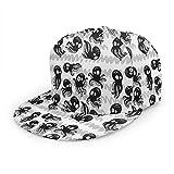 Gorra de béisbol con diseño de Pulpo y Animales del océano con Zigzag, Gorra de béisbol Plana para Hombres y Mujeres, con Tirantes Ajustables en Color Negro