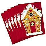 Hallmark Christmas Cards Pack, Gingerbread House (6 Cards