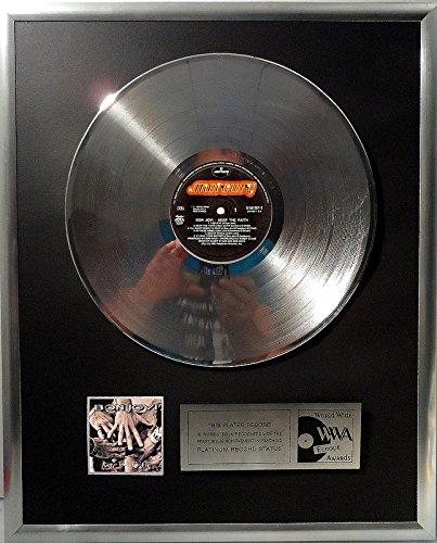 Bon Jovi Keep the Faith platin Schallplatte (goldene gold record)