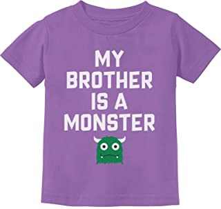 My Brother is a Monster Funny Siblings Halloween Toddler Kids T-Shirt