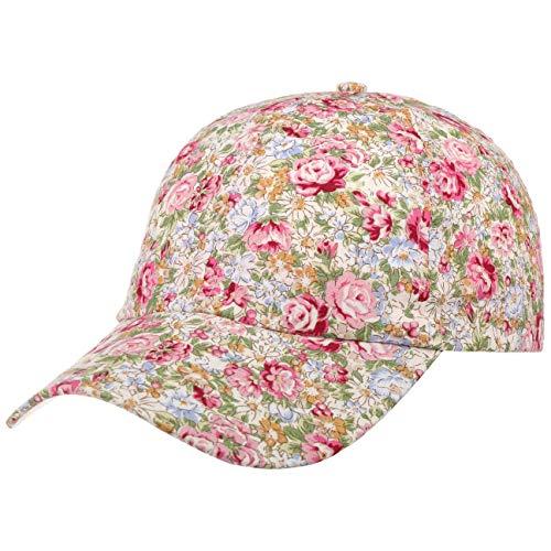 Lipodo Allover Flowers Cap Damen - Damencap aus Baumwolle - Mütze mit Blumenprint - Klettverschluss größenverstellbar (One Size 54-59 cm) - Baseballcap Frühjahr/Sommer rosa One Size