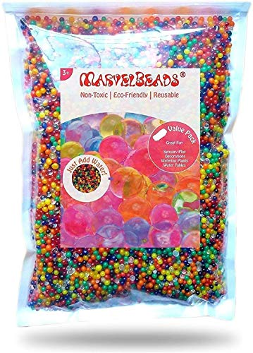 SAILFISH Water Beads Rainbow Mix (Half Pound) for Spa Refill, Sensory Toys and Décor (Non-Toxic)