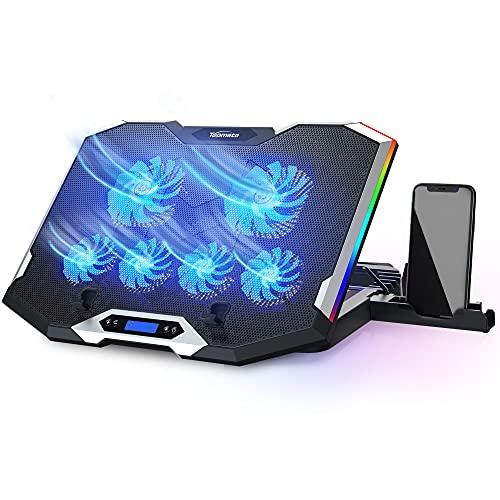 TopMate C11 Base Refrigeradora Portatil, Refrigeracion para Portatil para Juegos RGB para Portátiles de 15,6-17,3