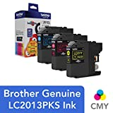 Brother Genuine Standard Yield Color Ink Cartridges, LC2013PKS, Replacement Color Ink Three Pack, Includes 1 Cartridge Each of Cyan, Magenta & Yellow, Page Yield Up To 260 Pages/cartridge
