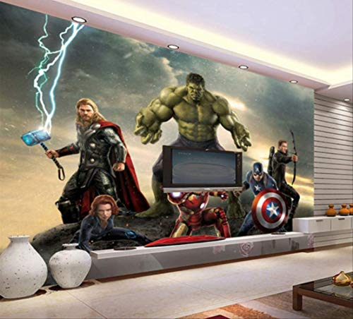 3d Tapete The Avengers Photo Wallpaper Movie Wall Mural Marvel Heroes Boys Kids Girls Room Décor Bedroom Cool Home Deco Ration Breite 350cm * Height250cm pro