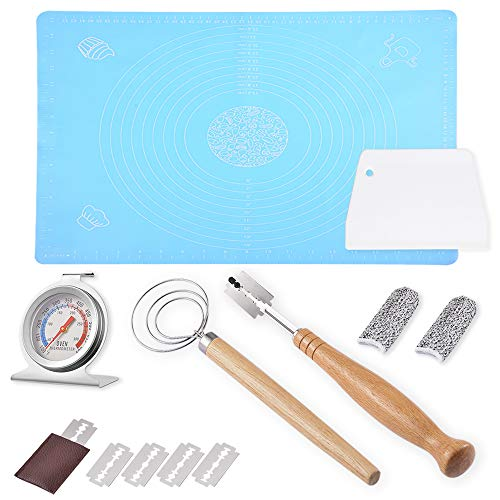 Bread Making Tools – Dough Scraper Danish Dough Whisk Oven Thermometer Bread Lame Pastry Mat Finger Sleeves Necessary Kitchen Utensils
