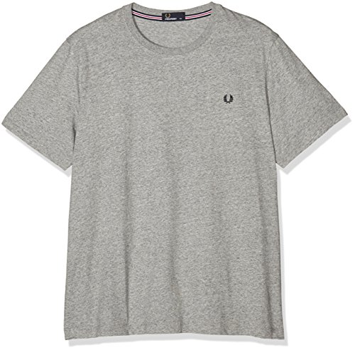 Fred Perry FP Crew Neck T-Shirt, Gris (Vintage Steel MA), M Homme
