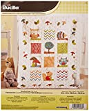 Bucilla Stamped Cross Stitch Crib Cover Kit, 34 by 43-Inch, Woodland Baby
