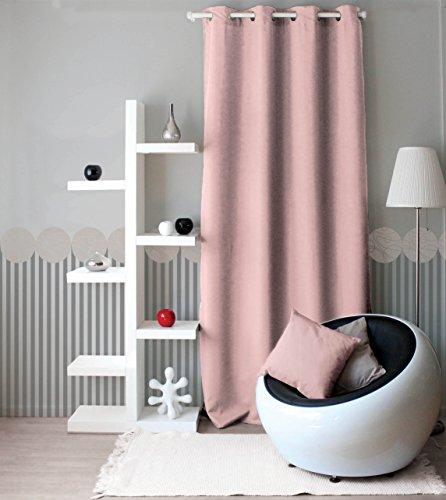 Enjoy Home 2015VR140240 Vorhang aus Polyester, mit 8 Ösen, 140 x 240 cm, Altrosa