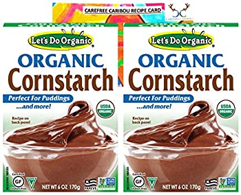 Lets Do Organic Cornstarch Bundle Includes Two  2  6oz Packages of Lets Do Organic Cornstarch and a Recipe Card from Carefree Caribou! Gluten Free!