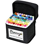 #LightningDeal Bianyo Classic Series Alcohol-Based Dual Tip Art Markers(Set of 72,Travel Case with a Designable Card)