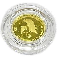 純金24金クリスチャン・リース・ラッセン・イルカコイン1/20オンス(5$)2021年版金貨レザーケース入り裏面エリザベス女王英国王室造幣局(ロイヤルミント)製造