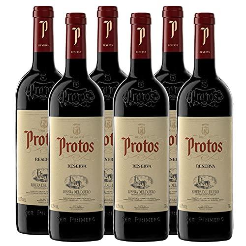 Vino Tinto Protos Reserva de 75 cl - D.O. Ribera del Duero - Bodegas Protos (Pack de 6 botellas)