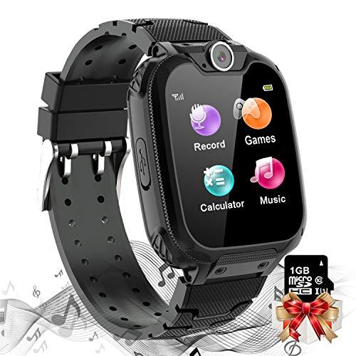 Vannico Reloj Inteligente Niño, Musica Smartwatch Game Watch 1.54 Pantalla Táctil 7 Juegos Cámara Llamada para Niños Niña