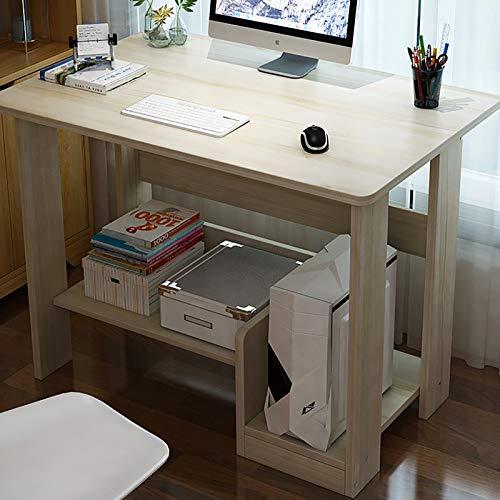 SHBV Compact Semplice Piccolo Scrivania per Computer,Salvaspazio Stabile con Ripiano Scrivania da Ufficio,Multiuso Rapidità di Montaggio Arredo Lavoro Ufficio-Ciliegio 60 * 37 * 72cm