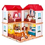 UNIH Doll House Dream House , Toddler Dollhouse for Little...