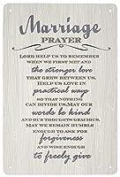 メタリックスズマークレトロなスタイルの結婚祈祷プレート感動的な引用メタリックマークホームバーデコレーションカフェバーレストランショップ8X12インチ