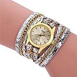 ZSDGY Damen Wickelarmband Uhr Gesponnene Schlange-Quarz-Uhr-elektronische Uhr Mit Extra Langen Armband D