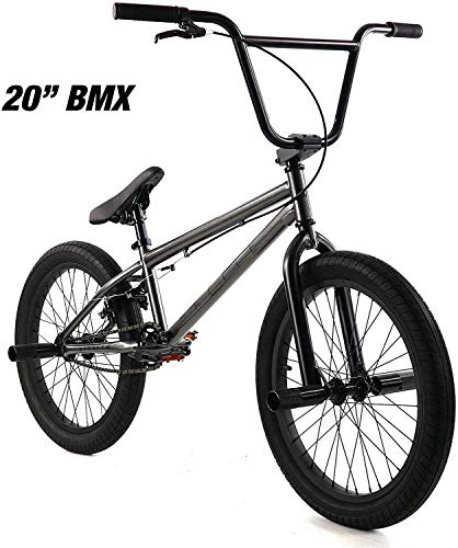 "Elite 20"" & 16"" BMX Bicycle The Stealth Freestyle Bike (20"" Grey)"