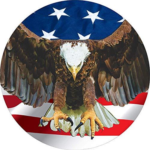 Jackgold Honey Flying Adler mit amerikanischer Flagge, Reifenabdeckung für 205/75R15, passend für Wohnmobil, Jeep, RV-Anhänger