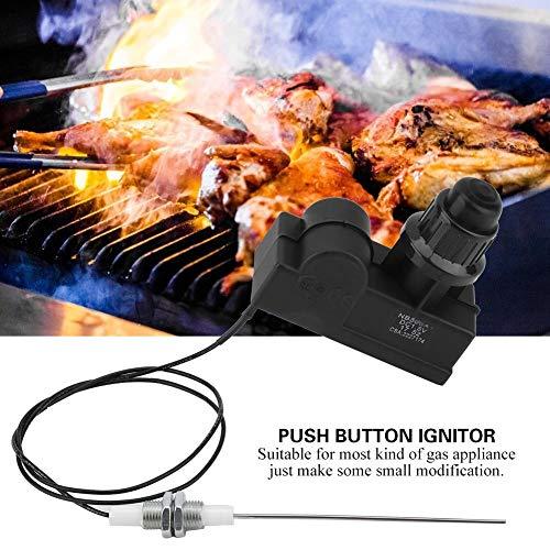 Aansteker voor vonkengrill, vonkengenerator, aanmaakblokjes met aansteker AA-uitgang en 60 cm kabel voor keuken, tuin, eten in de buitenlucht (geen batterij)