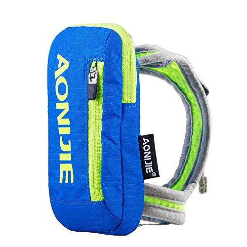 AONIJIE Sac à dos d'hydratation portable Marathon en nylon Randonnée Cyclisme Running Kettle Sac à main pour bouteille d'eau 250ml Sports de plein air (Bleu)