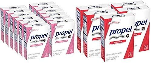Propel Powder Packets Raspberry lemonade With Electrolytes Vitamins and No Sugar 120 Count Powder product image
