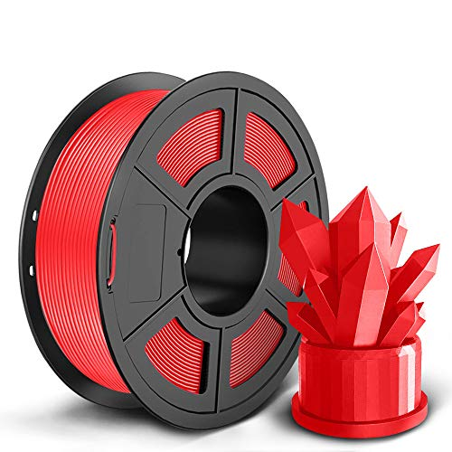 SUNLU PLA+ Filament 1.75mm for 3D Printer & 3D Pens, 1KG (2.2LBS) PLA+ 3D Printer Filament Tolerance Accuracy +/- 0.02 mm, Red