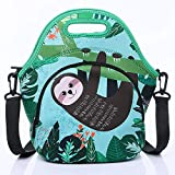 AllFlash Neoprene Lunch Bag, Reusable Insulated Thermal Lunch Bag Small Neoprene Lunch Box Carry Case Handbags Tote for Kids, Girls, Boys and Women (Lazy Boy)
