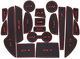 MyGone Custom Fit Cup Holder and Door Liner Accessories fits for Mazda CX-5 CX5 2017 2018 (18Pcs)