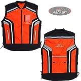 Motorrad Warnweste Sicherheitsweste Motorrad Quad Neon Weste von PROANTI Größe XL