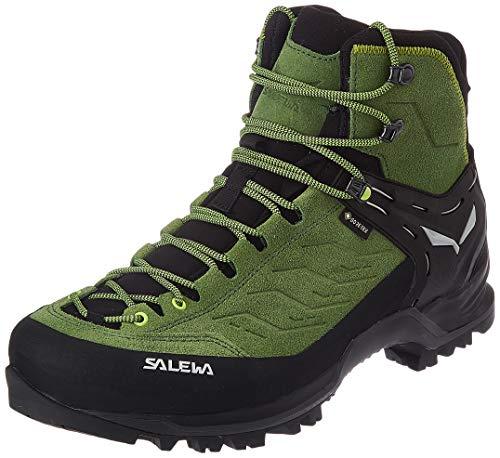 Salewa Herren MS Mountain Trainer Mid Gore-TEX Trekking- & Wanderstiefel, Myrtle/Fluo Green, 43 EU