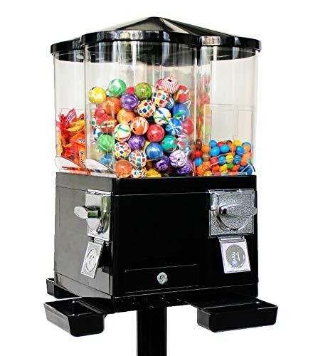 Mini-Carousel Süssigkeitenautomat Kaugummiautomat Süsswarenautomat - 4 Fächer (schwarz)