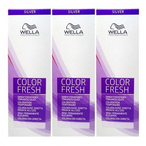 Wella Color Fresh Silver 10/81 hell-lichtblond perl-asch 3 x 75 ml Tönungsliquid Gel-Tönung CF