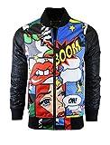SCREENSHOT-S51050 Hip-Hop Urban Fashion Bomber Jacket - Outdoor Lightweight Streetwear Pop Art Cartoon Graffiti Print Zip Up Top-Pop-Medium