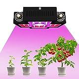 COB LED Grow Light, Full Spectrum Dual Switch, con perilla regulable para plantas de interior, verduras y flores (10WLED COB Dual chip), 1200