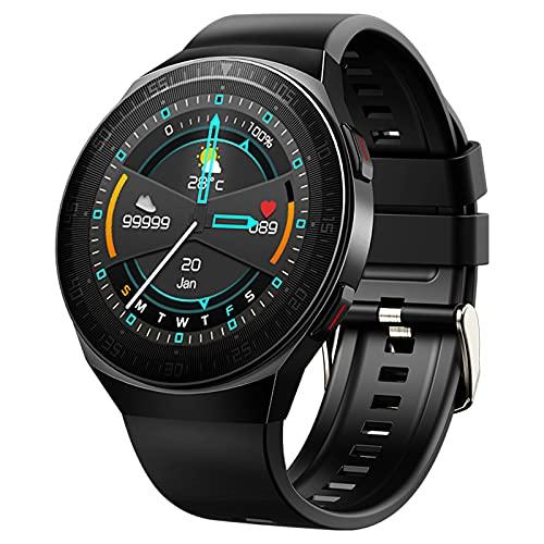 QFSLR Smartwatch Pulsera Actividad con Monitor De Frecuencia Cardíaca Llamada Bluetooth Monitor De Presión Arterial Monitoreo De Oxígeno En Sangre para Hombres Y Mujeres,Negro