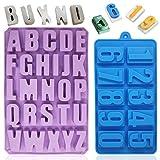 Molde de silicona de 26 cavidades con diseño de alfabeto YuCool mayúscula, molde para hacer...