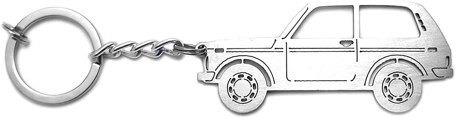 Keychain With Ring For Vaz Lada 2121 Pendant Steel Key 3D NIVA It is very 2021 autumn and winter new popular C