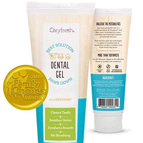 Oxyfresh Pet Toothpaste For Dogs & Cats– Professional formula - Fresh Breath &...