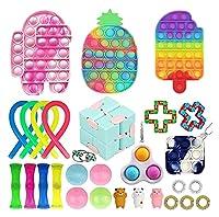29パックセンサーフィジットのおもちゃの玩具、安いフィジットのおもちゃパック、シンプルなディメプルフィグタットおもちゃ、大人の子供たちのためのストレス不安絞りを和らげます。 (Color : E-29 Pack)