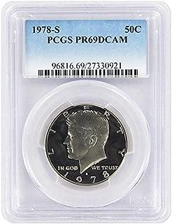 1978 S Proof Kennedy Half Dollar PCGS PR 69 DCAM New Blue Label Holder