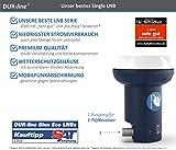 DUR-line Blue ECO Single Stromspar-LNB – 1 Teilnehmer – Premium-Qualität – 1-Fach, digital, Full HD, 4K, 3D - 3