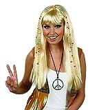 Fun Shack Parrucca per Adulti Hippie Bionda con Trecce Capelli Hippy Anni '70 da Donna Acc...