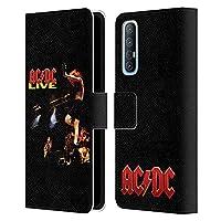 Head Case Designs オフィシャル ライセンス商品 AC/DC ACDC ライブ アルバム・アート Oppo Find X2 Neo 5G 専用レザーブックウォレット カバーケース