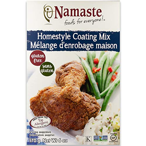 Namaste Foods Gluten Free Seasoned Coating Mix, Homestyle, 6 Ounce (Pack of 6) – Allergen Free
