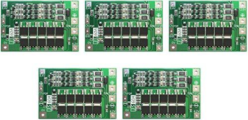 TECNOIOT 5pcs 3S 60A 11.1V 12.6V 18650 Lithium Batterie Schutz Board Balance Version