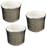 HQRP Filter 3-Pack Compatible with Sunbeam HWF64CS HWF64 SCM1745 SCM1746 SCM1747 Type-E Humidifier Coaster